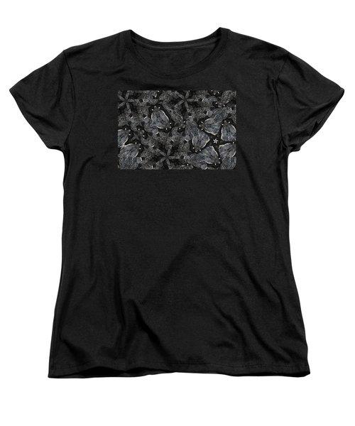 Women's T-Shirt (Standard Cut) featuring the photograph Black Granite Kaleido 3 by Peter J Sucy