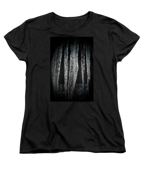 Women's T-Shirt (Standard Cut) featuring the digital art Black Ice by Barbara S Nickerson