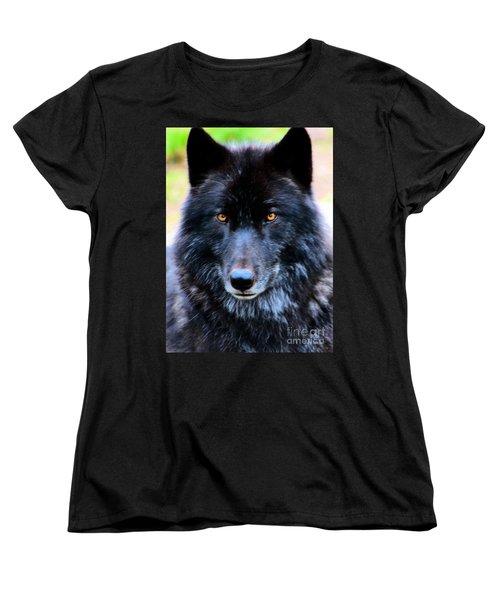 Black Wolf Women's T-Shirt (Standard Cut)