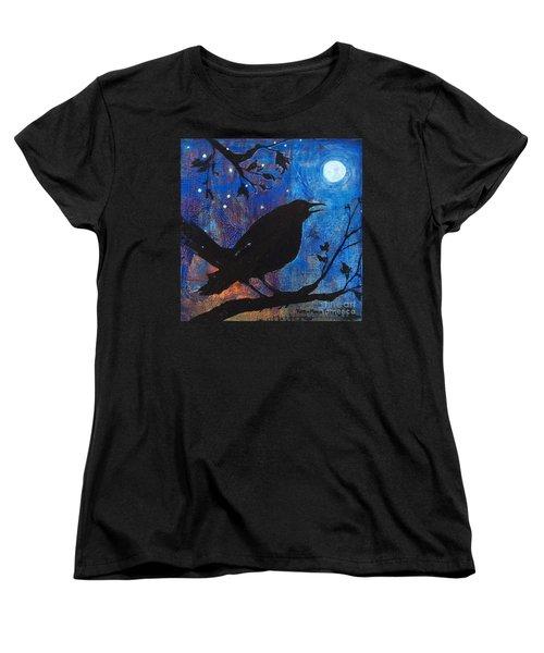 Blackbird Singing Women's T-Shirt (Standard Cut) by Robin Maria Pedrero