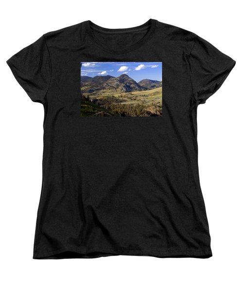 Blacktail Road Landscape 2 Women's T-Shirt (Standard Cut) by Marty Koch