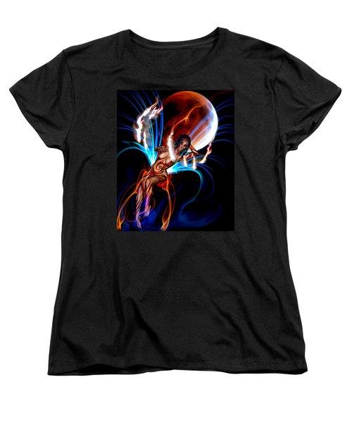 Blazing Eclipse Women's T-Shirt (Standard Cut) by Glenn Feron
