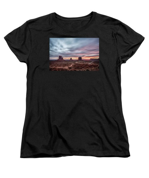 Blended Colors Over The Valley Women's T-Shirt (Standard Cut) by Jon Glaser
