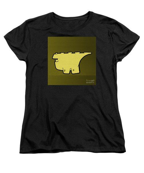 Women's T-Shirt (Standard Cut) featuring the digital art Blockasaurus by Uncle J's Monsters