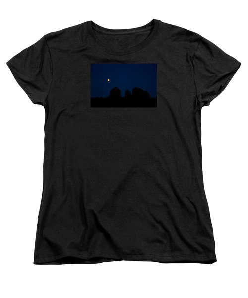 Women's T-Shirt (Standard Cut) featuring the photograph Blood Moon Over Cathedral by Tom Kelly