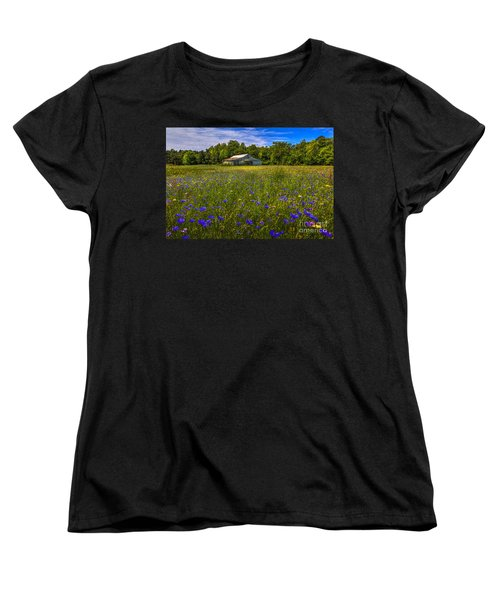 Blooming Country Meadow Women's T-Shirt (Standard Cut) by Marvin Spates