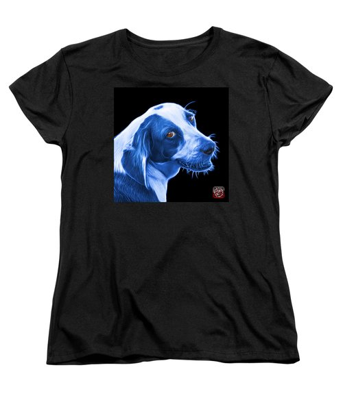 Blue Beagle Dog Art- 6896 - Bb Women's T-Shirt (Standard Cut) by James Ahn