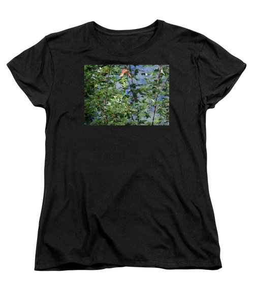 Blue Bird On Silk Women's T-Shirt (Standard Cut) by Gary Smith