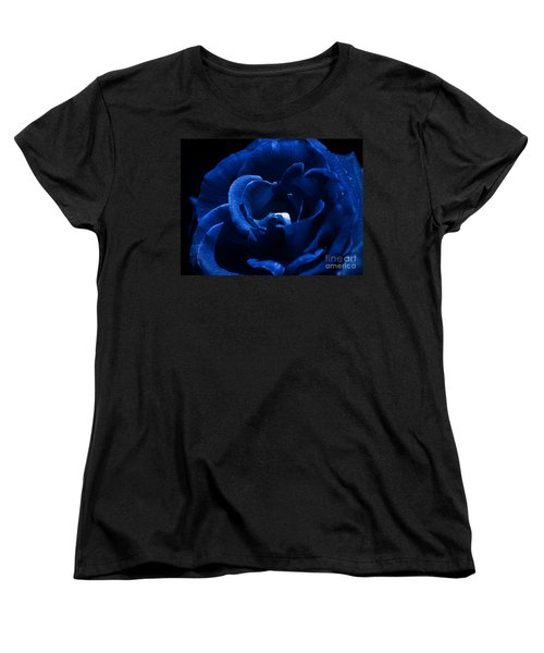 Blue Blue Rose Women's T-Shirt (Standard Cut) by Clayton Bruster