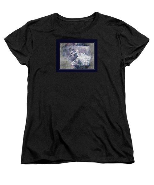 Blue Dreams And Butterflies Women's T-Shirt (Standard Cut) by Karen McKenzie McAdoo