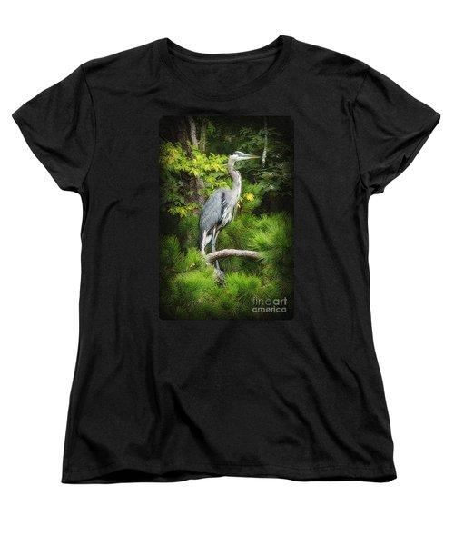 Blue Heron Women's T-Shirt (Standard Cut) by Lydia Holly