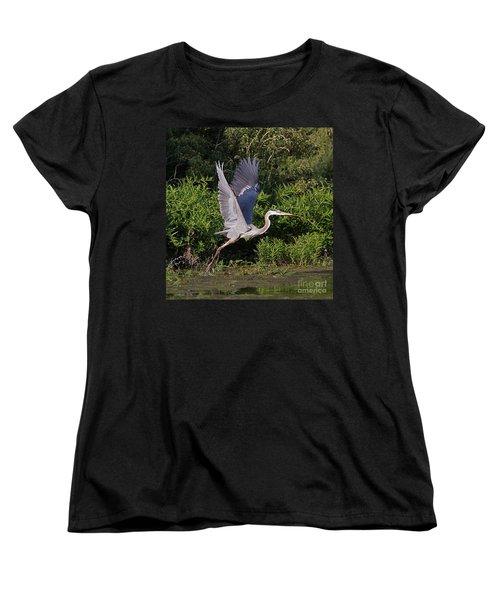 Blue Heron Women's T-Shirt (Standard Cut) by Robert Pearson
