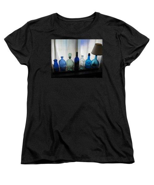 Blue Women's T-Shirt (Standard Cut) by John Scates