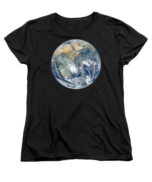 Blue Marble 2012 - Eastern Hemisphere Of Earth Women's T-Shirt (Standard Cut) by Nikki Marie Smith
