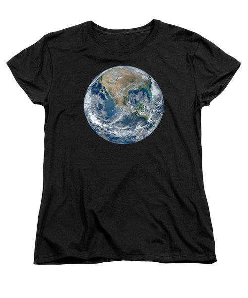 Blue Marble 2012 Planet Earth Women's T-Shirt (Standard Cut) by Nikki Marie Smith