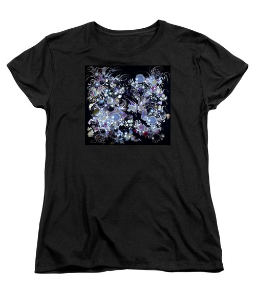 Women's T-Shirt (Standard Cut) featuring the digital art Blue Moon by Loxi Sibley