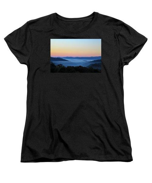 Blue Ridge Dawn Women's T-Shirt (Standard Cut) by Dale R Carlson