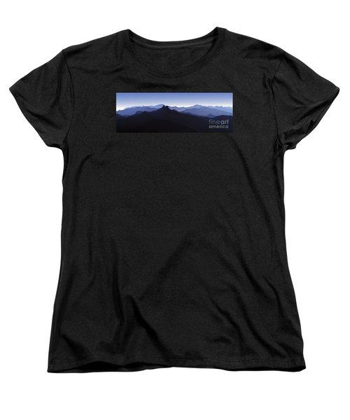 Women's T-Shirt (Standard Cut) featuring the photograph Blue Ridge Mountains. Pacific Crest Trail by David Zanzinger