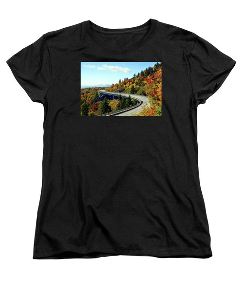 Women's T-Shirt (Standard Cut) featuring the photograph Blue Ridge Parkway Viaduct by Meta Gatschenberger