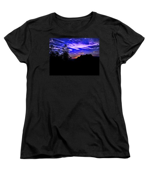 Women's T-Shirt (Standard Cut) featuring the photograph Blue Sunset In Poland by Mariola Bitner