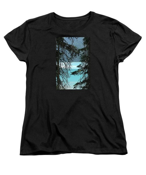 Women's T-Shirt (Standard Cut) featuring the photograph Blue Whisper by Al Fritz