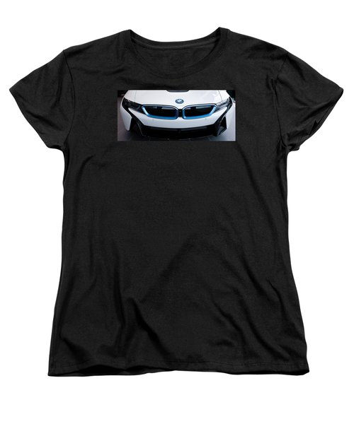 Women's T-Shirt (Standard Cut) featuring the photograph Bmw E Drive I8 by Aaron Berg