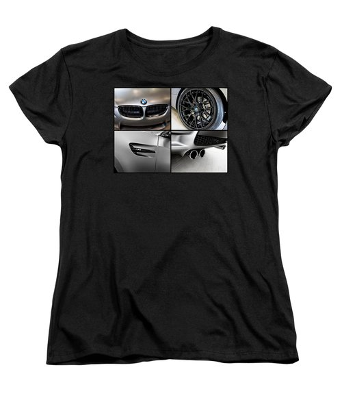 Women's T-Shirt (Standard Cut) featuring the photograph Bmw M3 Collage by Aaron Berg