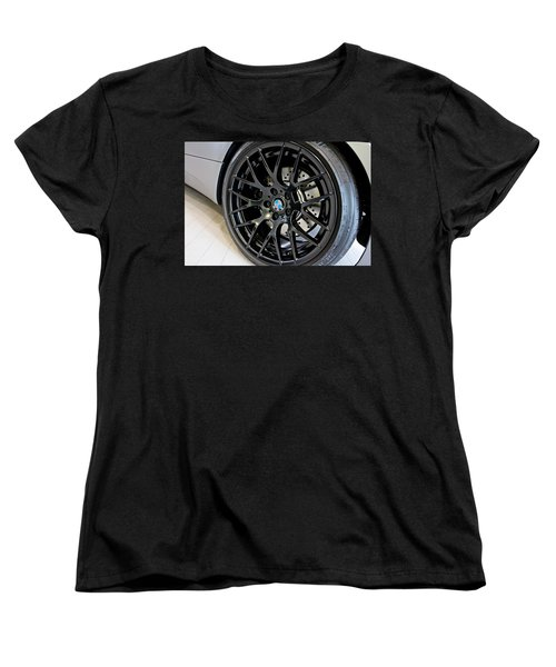 Women's T-Shirt (Standard Cut) featuring the photograph Bmw M3 Wheel by Aaron Berg