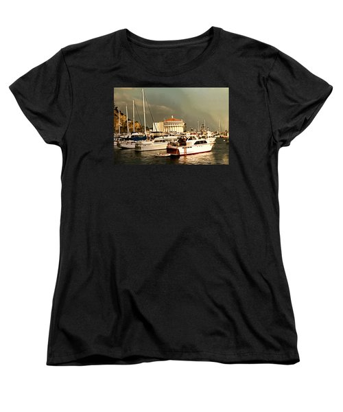 Women's T-Shirt (Standard Cut) featuring the photograph Boats Catalina Island California by Floyd Snyder