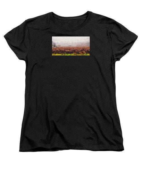 Boiling Field Women's T-Shirt (Standard Cut) by Spyder Webb