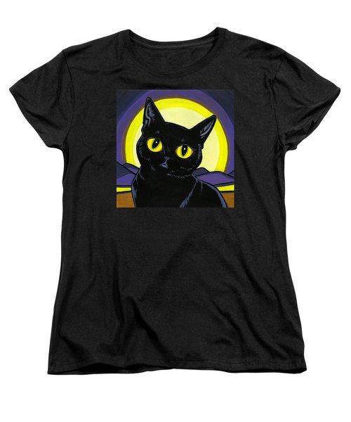 Bombay Moon Women's T-Shirt (Standard Cut) by Leanne Wilkes