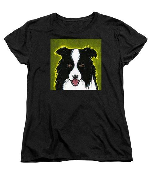 Border Collie Women's T-Shirt (Standard Cut) by Leanne Wilkes