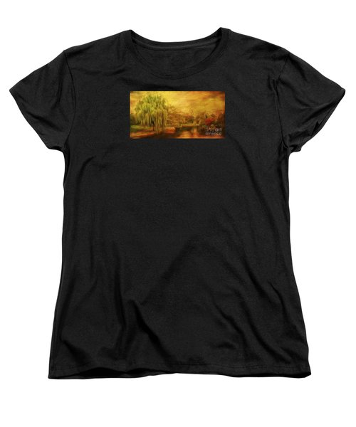 Boston Common In Autumn Women's T-Shirt (Standard Cut) by Liz Leyden
