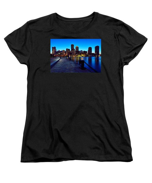 Boston Harbor Walk Women's T-Shirt (Standard Cut)