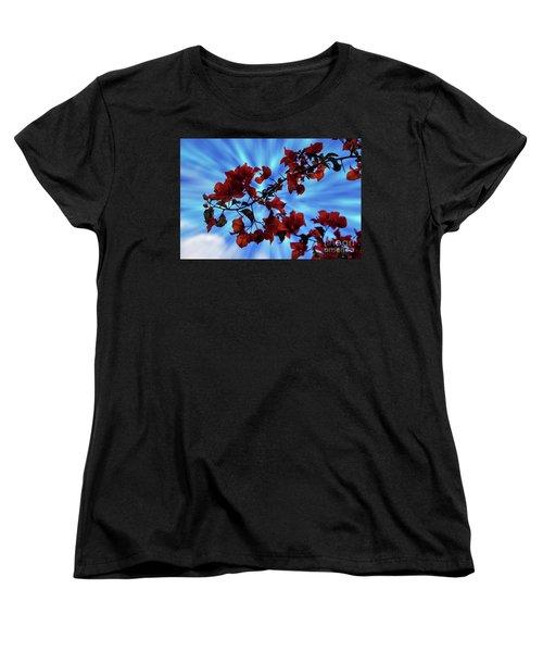 Bougainvillea At Joe's Secret Garden Iv Women's T-Shirt (Standard Cut) by Al Bourassa