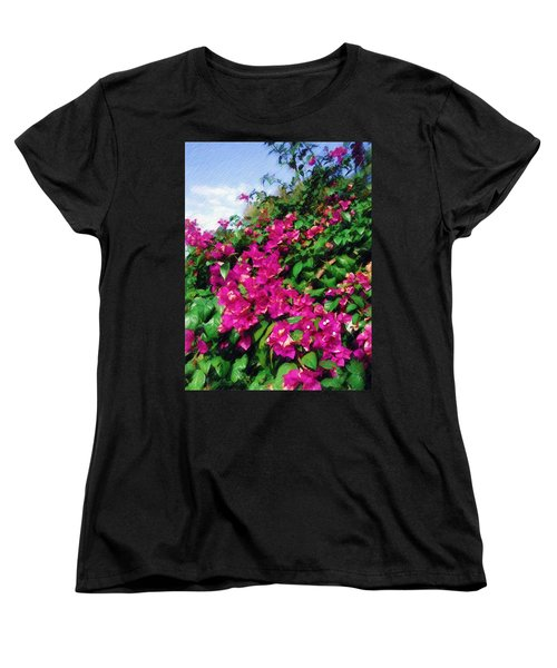 Women's T-Shirt (Standard Cut) featuring the photograph Bougainvillea by Sandy MacGowan