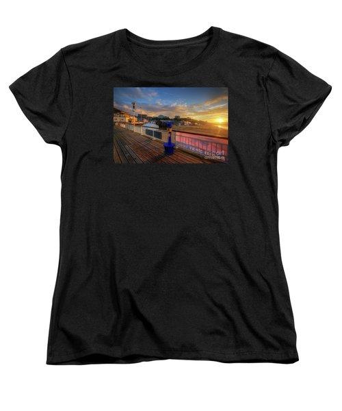 Women's T-Shirt (Standard Cut) featuring the photograph Bournemouth Pier Sunrise by Yhun Suarez