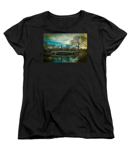 Women's T-Shirt (Standard Cut) featuring the photograph Bow Bridge Reflection by Chris Lord