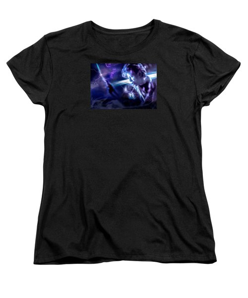 Women's T-Shirt (Standard Cut) featuring the photograph Bowie A Trip To The Stars by Glenn Feron