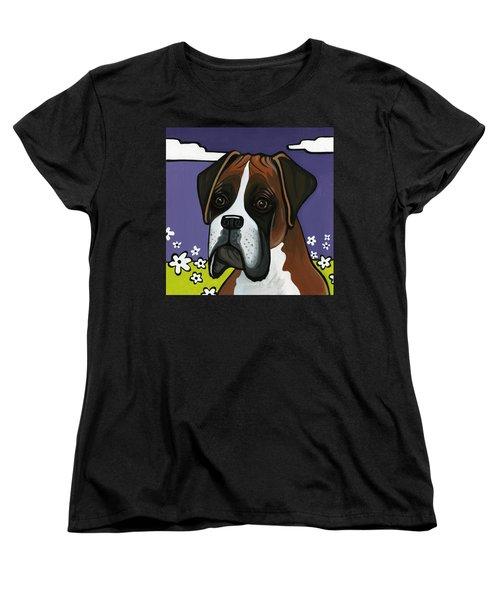 Boxer Women's T-Shirt (Standard Cut) by Leanne Wilkes