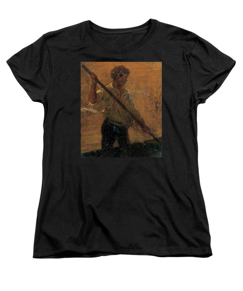 Women's T-Shirt (Standard Cut) featuring the painting Boy In A Punt by Henry Scott Tuke