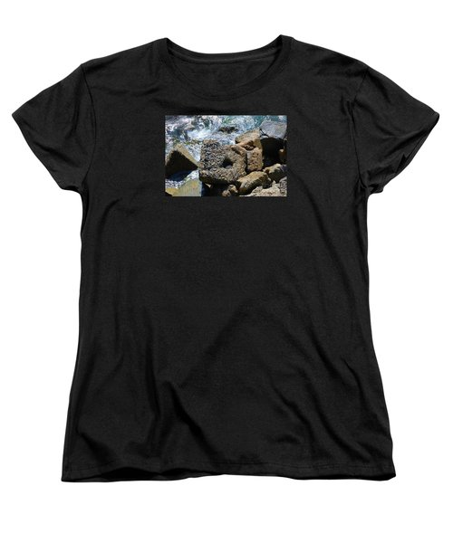 Women's T-Shirt (Standard Cut) featuring the photograph Breakwall by Steed Edwards