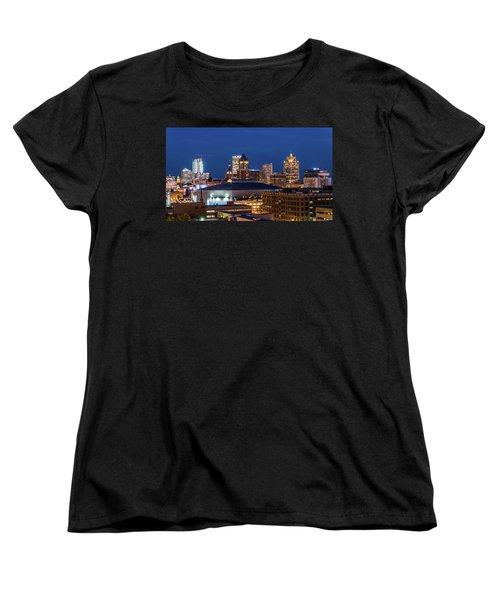 Brew City At Dusk Women's T-Shirt (Standard Cut) by Randy Scherkenbach