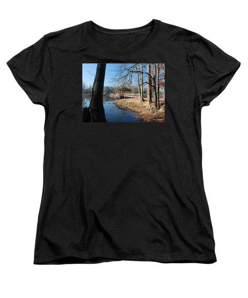 Women's T-Shirt (Standard Cut) featuring the photograph Brick Pond Park by Kay Lovingood