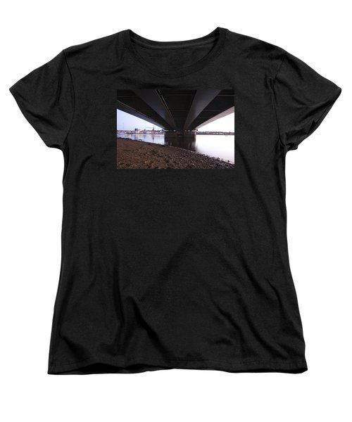 Women's T-Shirt (Standard Cut) featuring the photograph Bridge Over Wexford Harbour by Ian Middleton