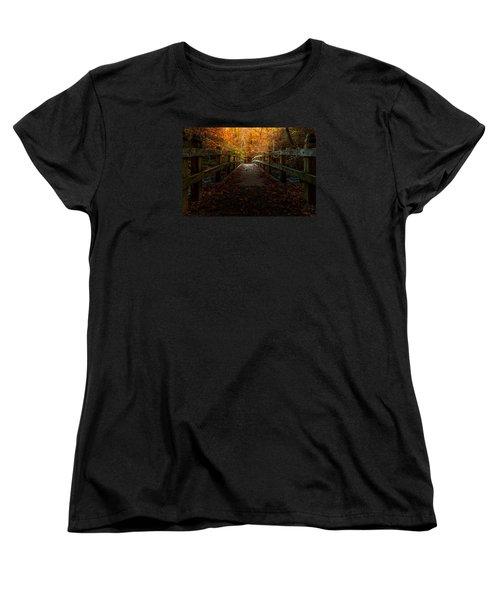 Bridge To Enlightenment Women's T-Shirt (Standard Cut) by Ed Clark