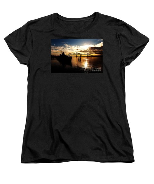 Bright Time On The River Women's T-Shirt (Standard Cut) by Scott Pellegrin