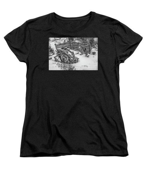 Broken Water Wheel Women's T-Shirt (Standard Cut) by Sue Smith