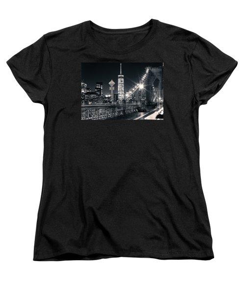 Brooklyn Bridge Women's T-Shirt (Standard Cut) by Silvia Bruno
