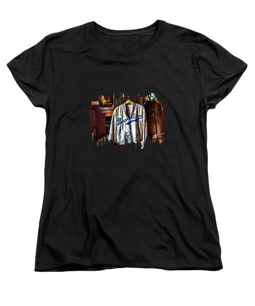 Brooklyn Dodgers Baseball  Women's T-Shirt (Standard Cut) by Thom Zehrfeld